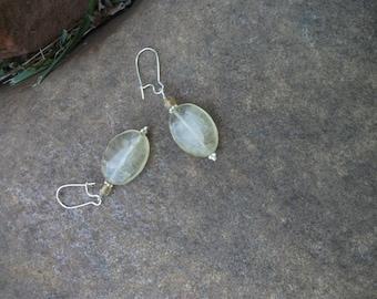 Yellow Quartz and Citrine Earrings