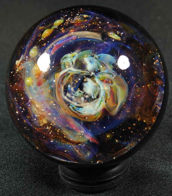 Super Nova Remnant with in a Nebula Glass Marble