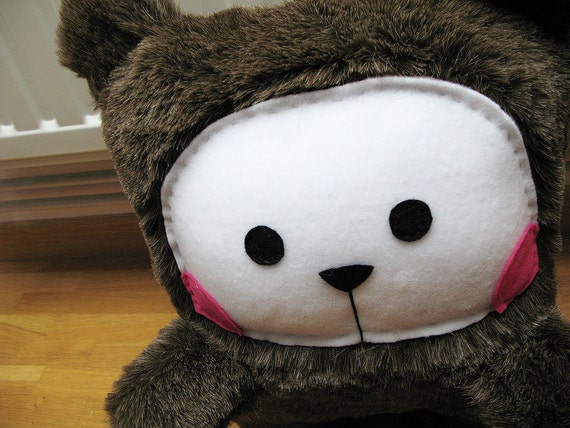 Bel Ours - Handmade Plush from L'Effroyable Placard - Salt and Pepper furry - Unique piece