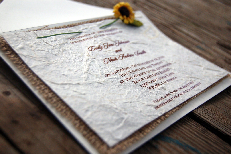rustic barn burlap wedding invitations - 28 images - rustic burlap ...