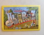 Vintage Postcard Book of Juarez Mexico, treasury item