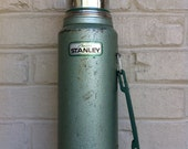 Aladdin thermos vintage metal green industrial chic