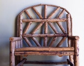 Vintage Twig bench love seat for doll or display