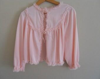 Vintage Pink Nylon Bed Jacket
