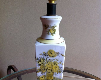 Lamp Small Desk Citron floral