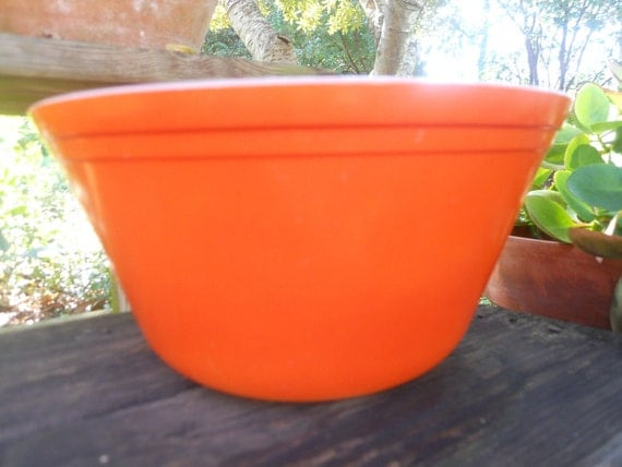 Orange Federal Bright Large Bowl