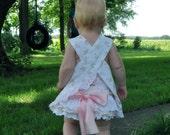 Baby Girl Pink Eyelet Ruffled Bloomers