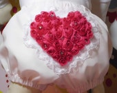Valentine's Ruffled bloomers Girls Baby Toddlers Limited Edition  0-3 mos,3-6 mo, 6-9mo , 9-12 mo,  18 mo 24 mo 2T