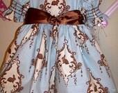 Girls Toddler Easter Dress Blue Dress 24mo, 2T 3T 4T