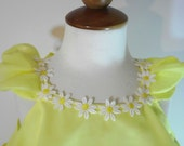 Childrens Spring Dress & Ruffled bloomers Lemon Yellow 24 mo, 2T 3T 4T