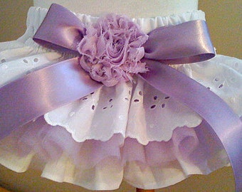 Baby Girls Purple Ruffled Bloomers Newborn-24 months