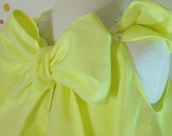 Baby Girls Spring Inspiration Dress & Ruffled bloomers Lemon Yellow