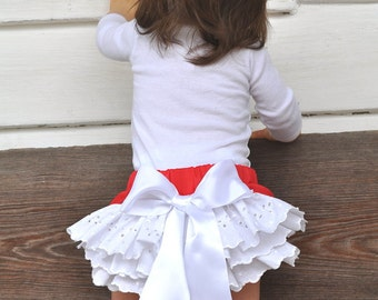 Baby Ruffled bloomers Girls Toddlers  0-3 mos,3-6 mo, 6-9mo , 9-12 mo,18 mo 24 mo
