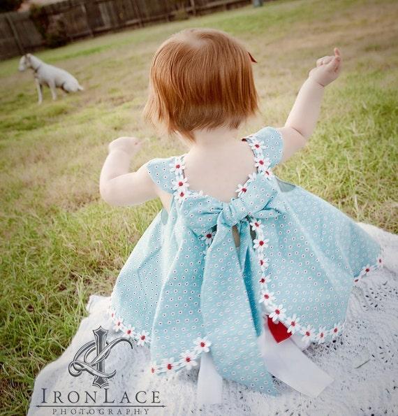 Girls Baby Toddlers Summer Fun Custom  2 piece Circular Sundress & Ruffled Panties 2T 3T