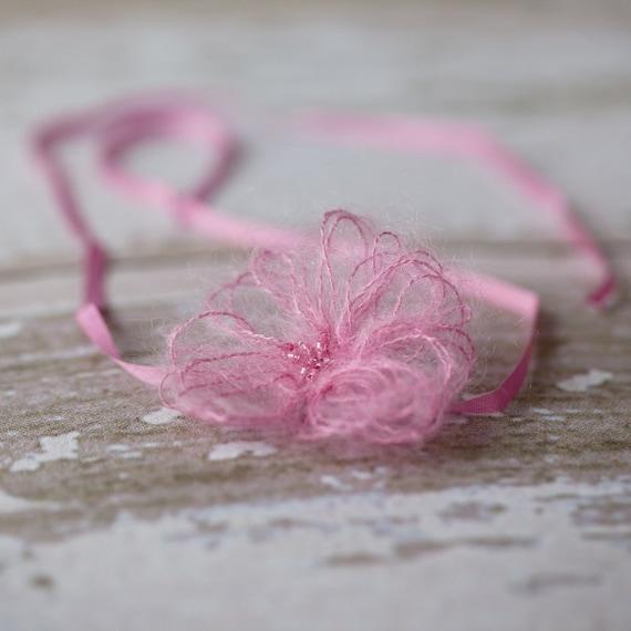 Wispy  Flower Headband - Peony