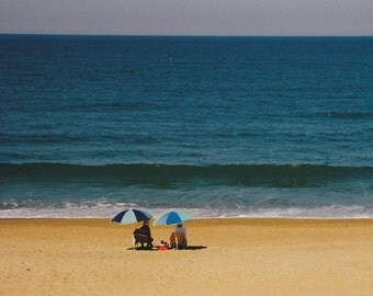 Beach Umbrellas, Outer Banks of NC, 8 x 10 fine art photo, signed