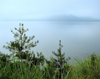 Misty Morning on Cave Run Lake in Eastern Kentucky, 8 x 10 fine art photo, signed