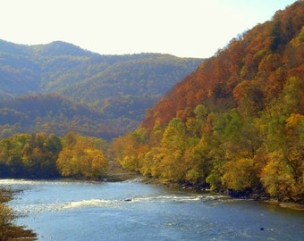 New River in Autumn (West Virginia)--5 x 7 fine art photo, signed