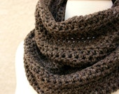 LET'S DO COFFEE - Baby Alpaca Infinity Scarf and Cowl - Lusciously soft taupe brown accented with subtle strands of shimmer