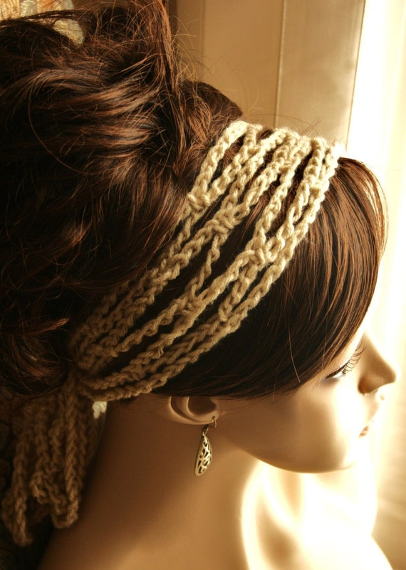 2 Crochet Mesh Headbands and Neck Wraps - 2 FOR 17.00 - Pick Your Colors