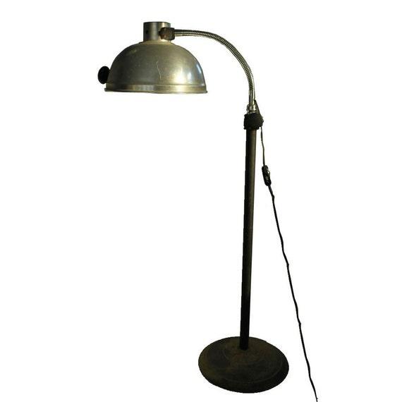 vintage industrial lamp metal floor lamp gooseneck lamp. Black Bedroom Furniture Sets. Home Design Ideas