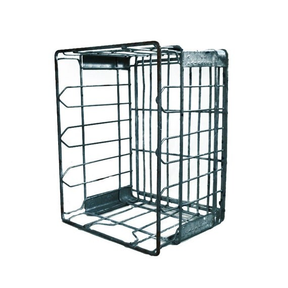 Metal Dairy Crate / Wire Milk Crate / Wire Crate - St. Louis Dairy