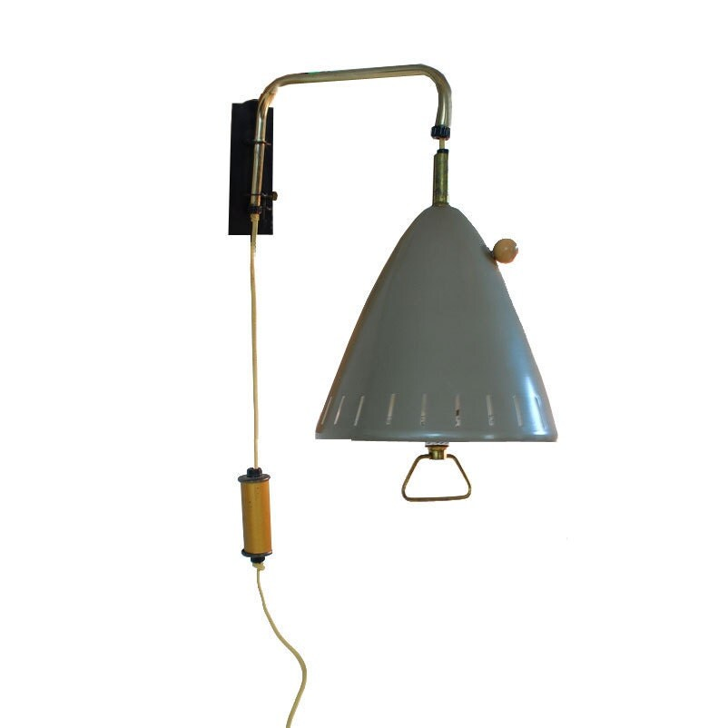 Wall Lamps Etsy : Mid Century Swing Arm Lamp / Wall Sconce