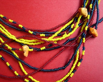 Brightly Colorful Seed Bead Necklace