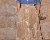 RESERVED western leather skirt