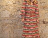 RESERVED multi colored floor length boho dress