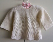 Vintage Handknitted Baby Top/dress