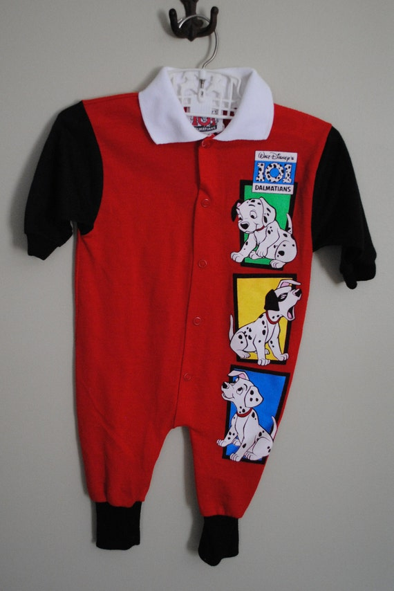 Vintage 101 DALMATIONS Dog Romper for Baby Boy size 6-9M