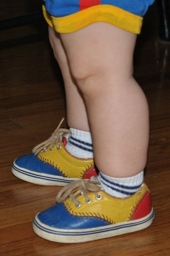 Vintage 1992 KEDS Leather Baseball Toddler Baby Boys Shoes