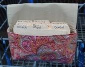 Fabric Coupon Organizer - Holder - Coupon Purse Paisley