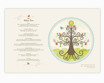 The Tree Story Young Women Values 5x7 Print