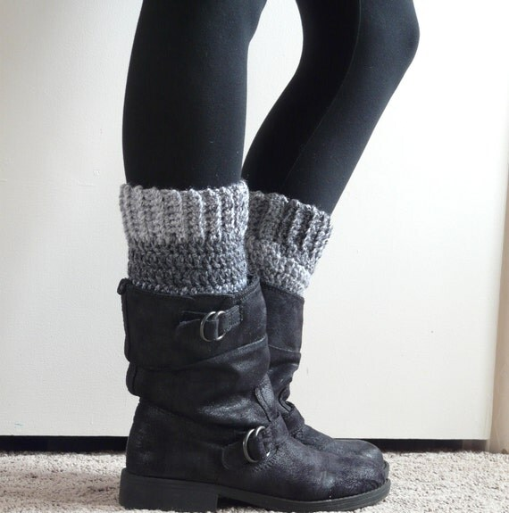 Charcoal Grey Boot Cuffs
