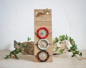 FREE SHIPPING Eco-friendly Native American inspired dreamcatcher friendship bracelets-red,chocolate,brown,mint,moss