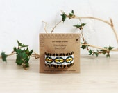 FREE SHIPPING,Handmade beaded hair, ponytail cuff-Native American inspired,pink,white,black,yellow,gold