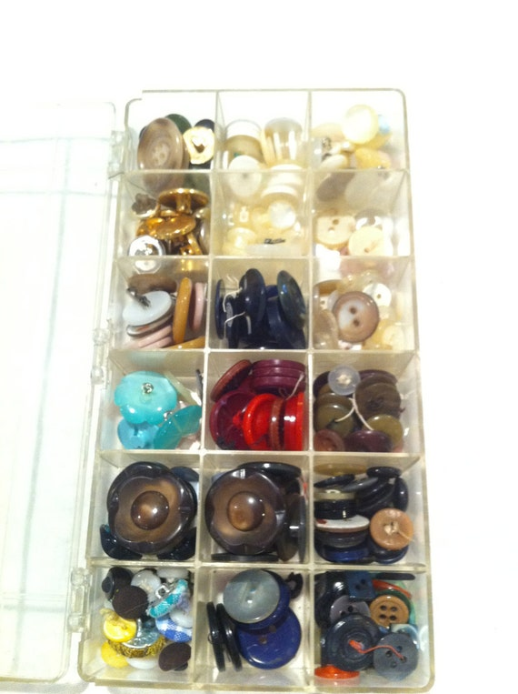 Vintage Collection of Buttons - Supplies - Sewing