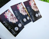 Set of 3 bridesmaids stud earrings - Round solitary rhinestones diamond look alike stud bridal earrings