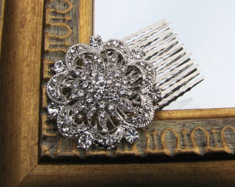 Vintage inspired bridal hair comb, wedding head piece - Sonjia