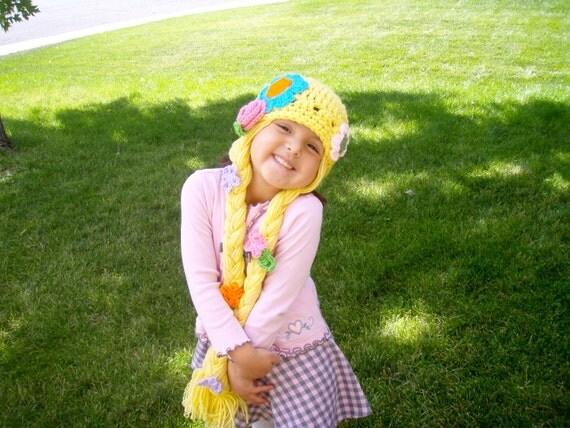 Handmade Crochet Rapunzel Hat