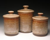 Stoneware canisters