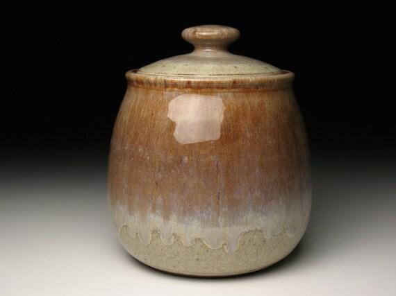 Pottery cookie jar, stoneware cookie jar, wheelthrown cookie jar, canister
