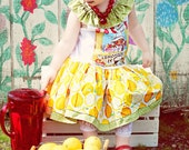 Original Monkey Tees Vintage Boutique Quality Lemonade Stand  Twirl Tank Top Dress