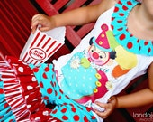 Reserved for vanex--Limited Edition Original Boutique Quality Circus Clown Tank Top and Triple Ruffle Capri--12mos-8Y.
