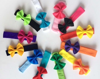 Design Your Own Baby Stretchy Headband with Felt Bow: Choose Your Colors