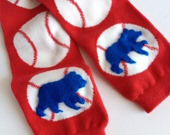Baseball Baby Leg Warmers, Blue Bear Cubs Baby Leg Warmers