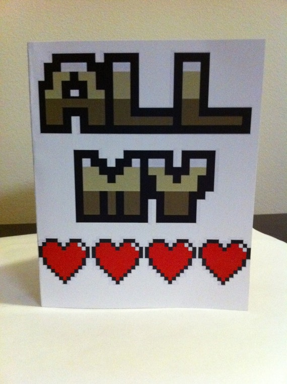 All Your Base Are Belong To Us (Zero Wing) Valentine's Day Card Template