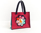 Personalized Bag for Girls, Custom Flower Tote